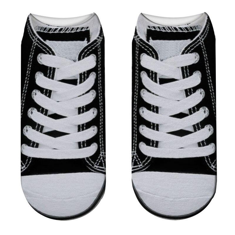 Unisex Canvas Shoes Printed Socks