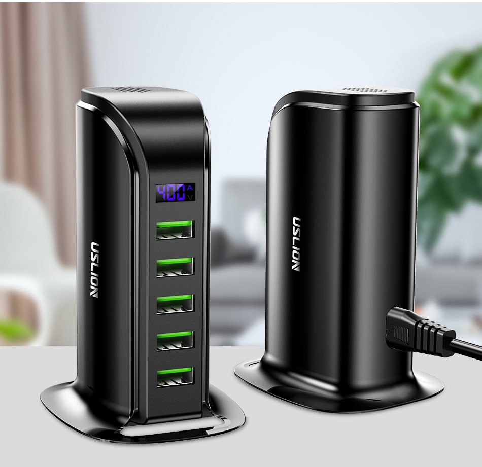 5-Ports USB Charger Hub with Backlight