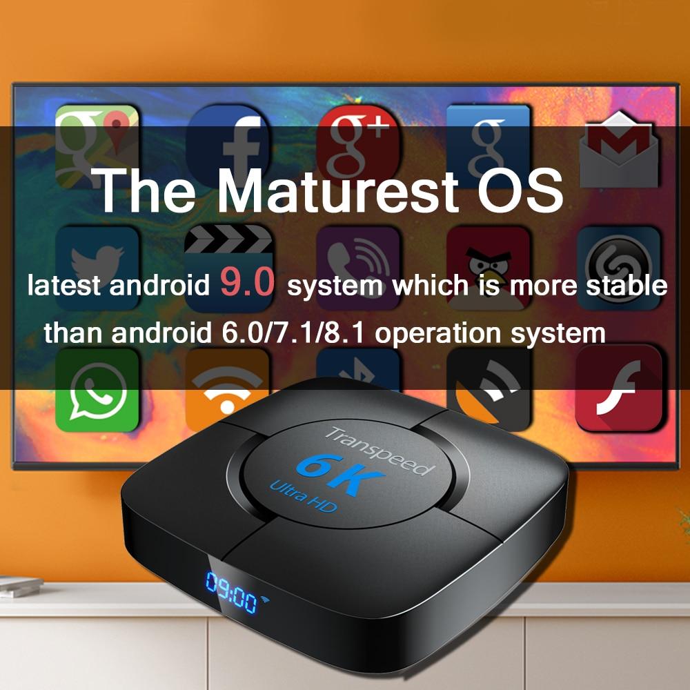 TV Box Google Voice Assistant Youtube 6K 3D Wifi 2.4G&5.8G 4GB RAM 64G Play Store Top Box
