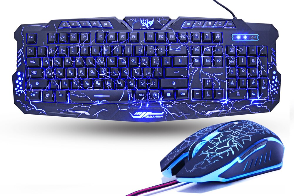 Gaming Keyboard and Mouse Combo with Breathing Backlight
