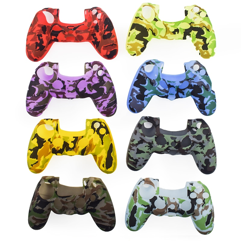 Soft Silicone Camouflage Case for PS4 Pro Controller