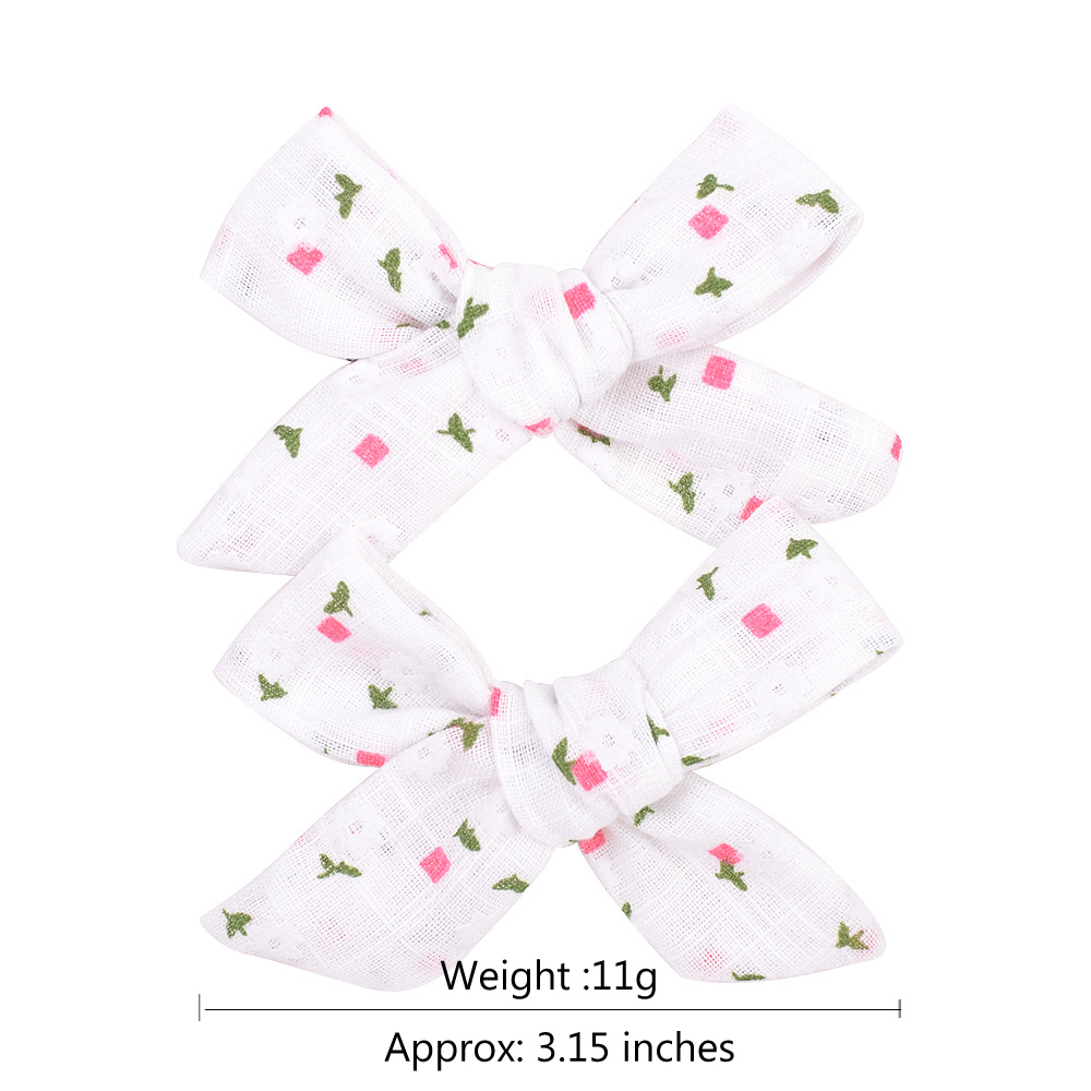Colorful Bow Hair Clips for Girls 2 pcs Set