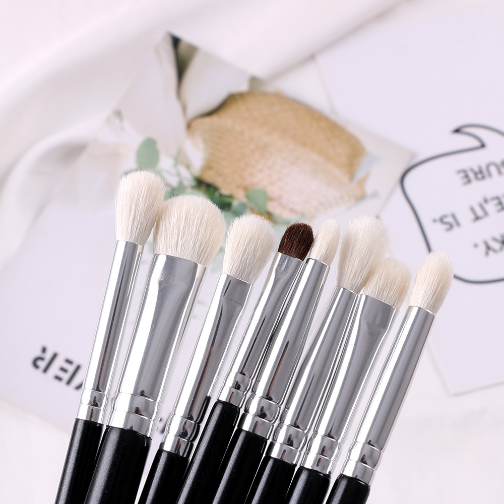 Goat Hair Eye Makeup Brushes 15 Pcs Set = 1MRK.COM