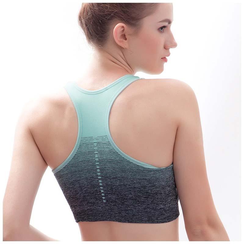 Gradient Printed High Stretch Fitness Women's Bra