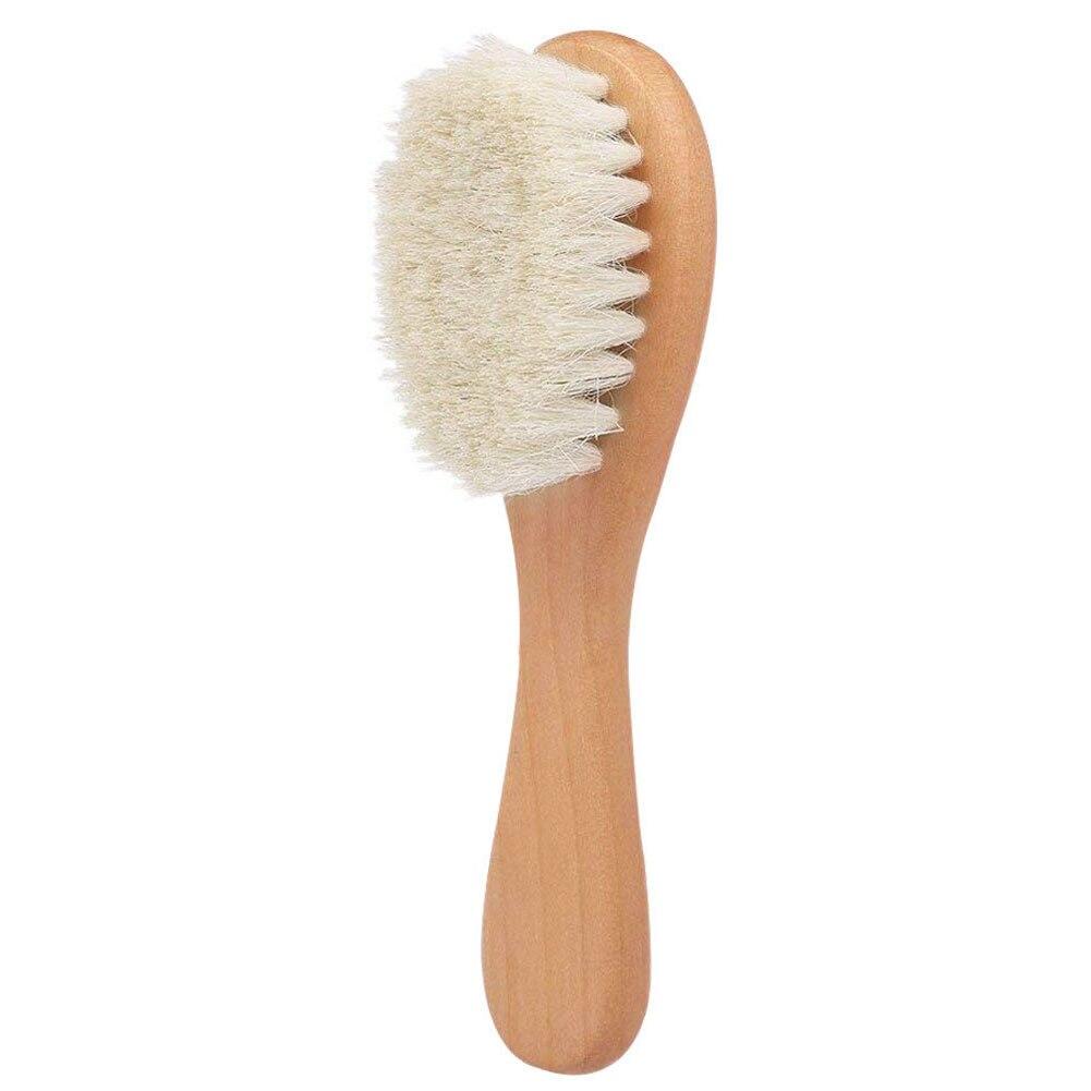 Natural Wood Hairbrush and Comb Kit