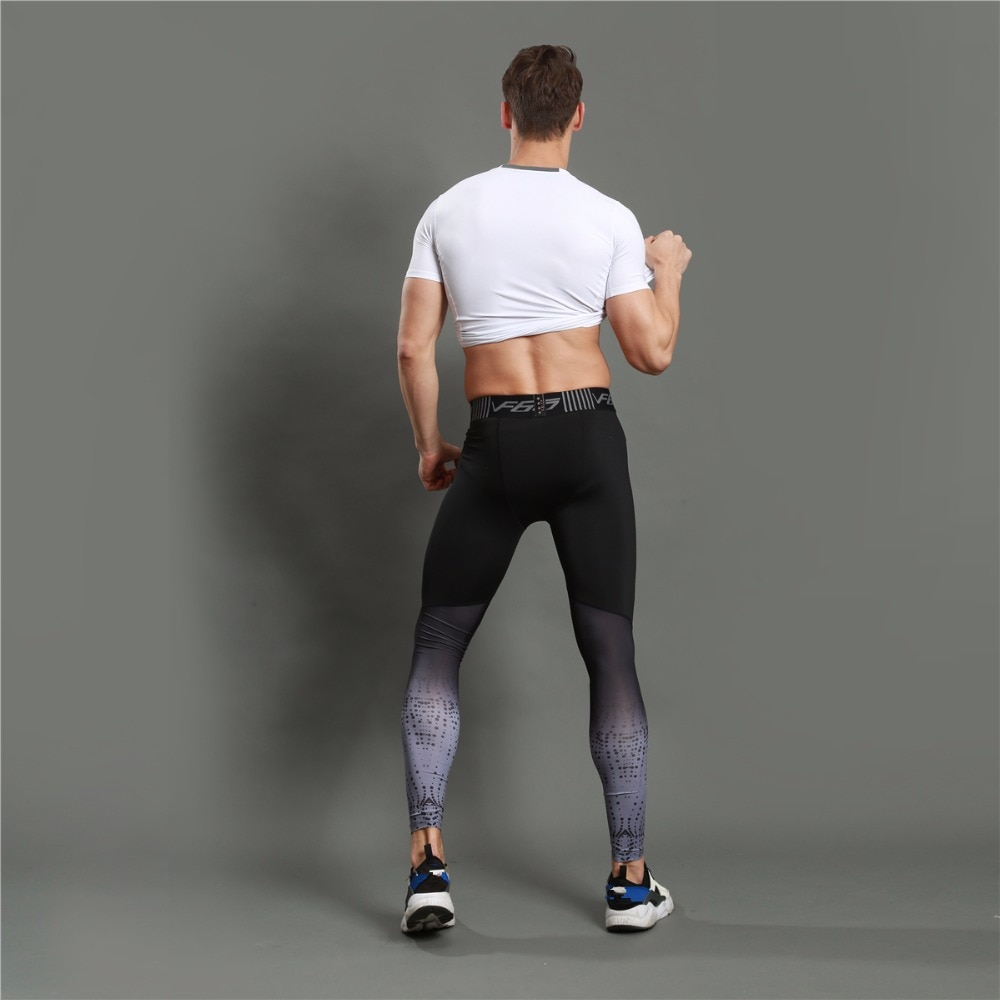 Gradient Printed Sports Men's Leggings