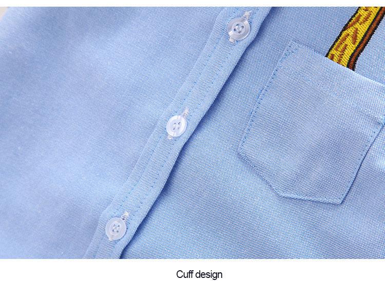 Boys' Short Sleeved Plain Polyester Shirt