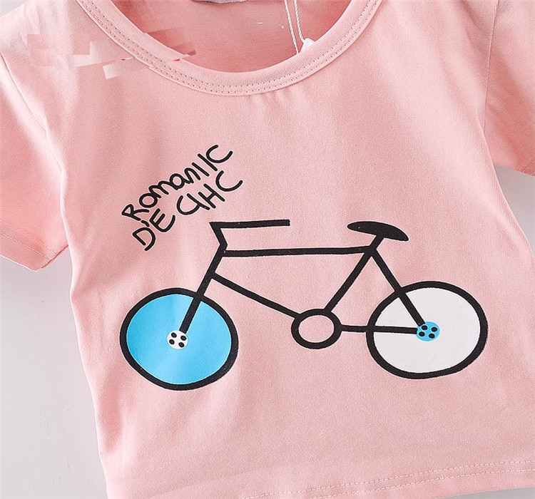 Baby's Bicycle Printed Cotton T-Shirt