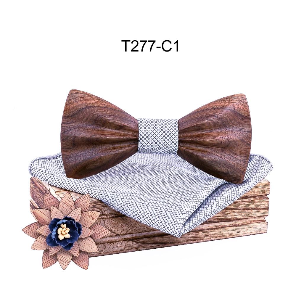 Boy's Fashion Wooden Bow Tie Set