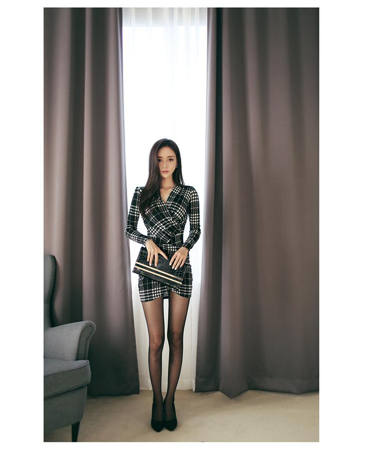 Women's Elegant Plaided Dress