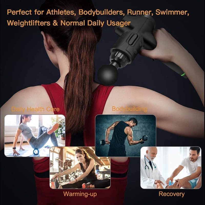 LCD Display Pain Relief Massage Gun = 1MRK.COM