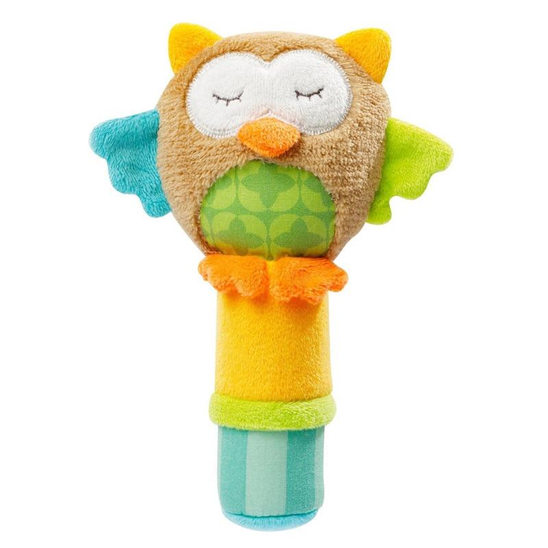 Baby's Animal Shaped Plush Rattle Toy