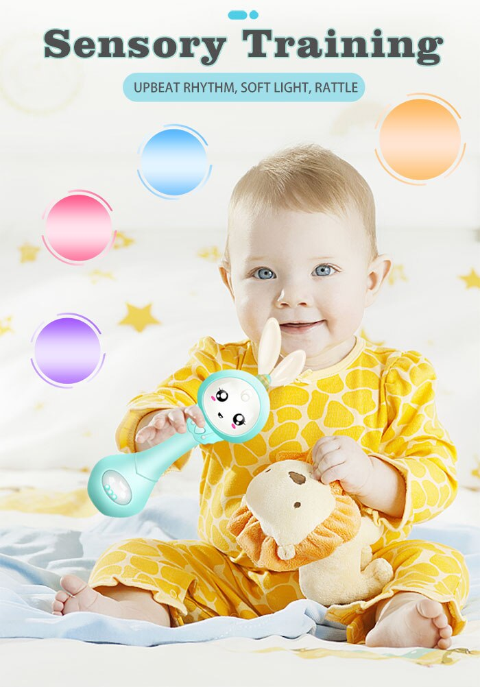 Baby's Music Teether Bunny Rattle Toy