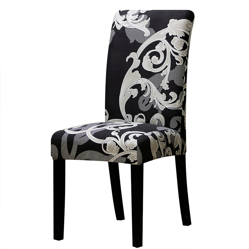Colorful Patterned Elastic Chair Cover