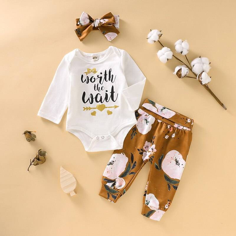Baby Girl's Romper Set with Hat