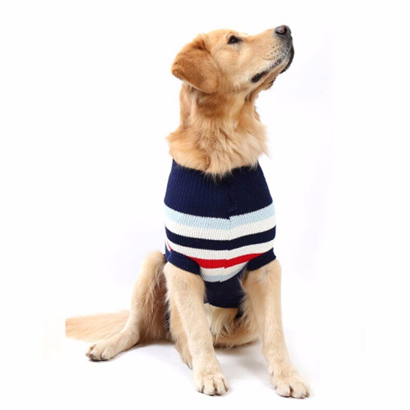 Warm Striped Design Sweater for Pets