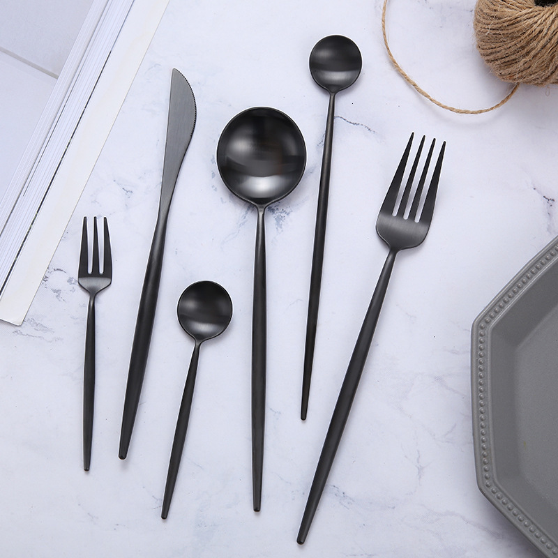 Matte Black Tableware Set