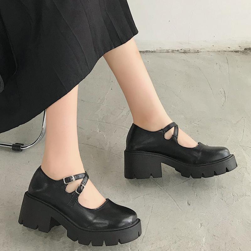Women High Heel Classic Style Round Toe Shoes 1mrk.com